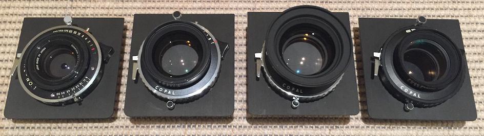 Lenses for 8x10 Field Camera: Computar 210/9, Fujinon A 300/9, Fujinon A 360/10, Fujinon C 450/12
